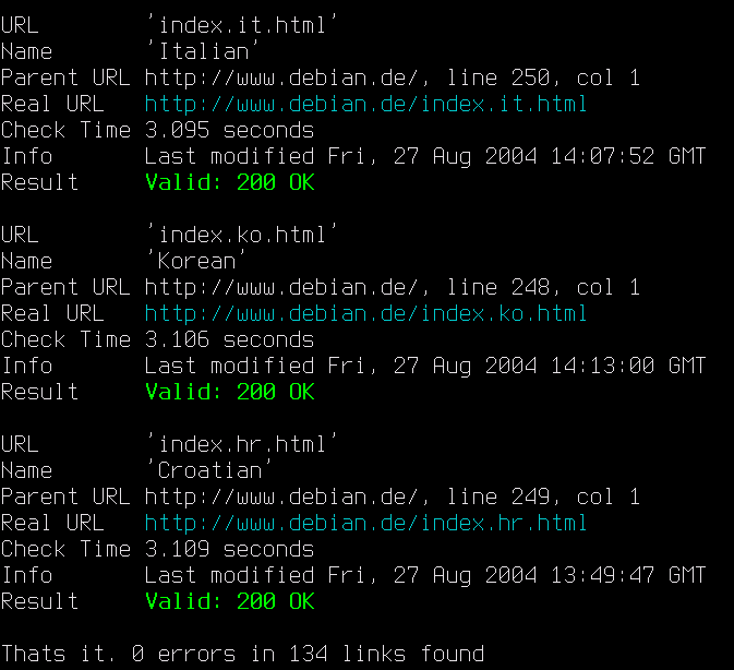 LinkChecker Portable full screenshot